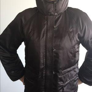 Max Mara Weekend brown hooded puffed coat and 10